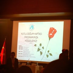 Photo taken at Üsküdar Üniversitesi Nermin Tarhan Konferans Salonu by Tuğba D. on 4/18/2013
