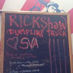 Photo taken at Rickshaw Dumpling Truck by Cooper S. on 5/4/2013