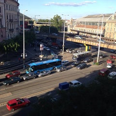 Photo taken at Nyugati tér by Judit M. on 6/13/2013