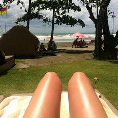 Photo taken at Anantara Seminyak Bali Resort & Spa by Katrin on 1/10/2013
