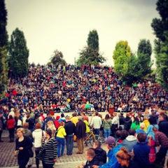Photo taken at Sonntagskaraoke im Mauerpark by Christian H. on 9/22/2013