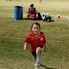 Photo taken at Corinth Soccer Fields by Erica M. on 11/19/2014
