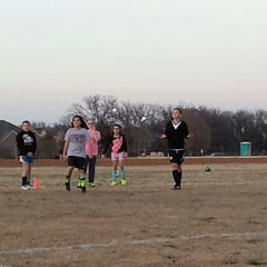 Photo taken at Corinth Soccer Fields by Erica M. on 3/8/2014