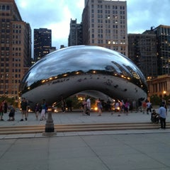 Photo taken at Cloud Gate by P C. on 6/1/2013