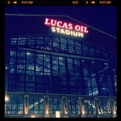 Photo taken at Lucas Oil Stadium by Vic F. on 3/30/2013