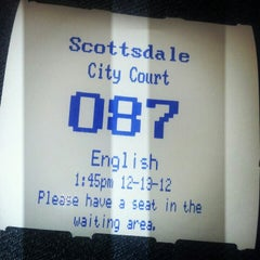 Photo taken at Scottsdale Municipal Court by Star P. on 12/13/2012