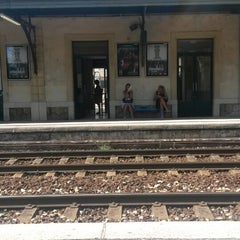 Photo taken at Gare SNCF de Beaulieu-sur-Mer by Petr V. on 8/21/2014