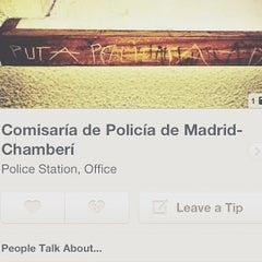 Photo taken at Comisaría de Policía de Madrid-Chamberí by Iván P. on 9/14/2013