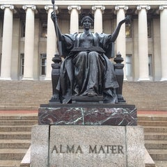Photo taken at Columbia University Sculpture Garden by Michal 'may' H. on 1/14/2014