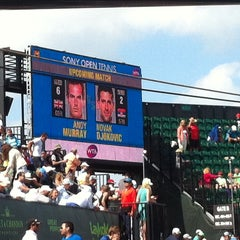 Photo taken at Grandstand Court - Sony Ericsson Open by Caribbean Queen on 3/26/2014