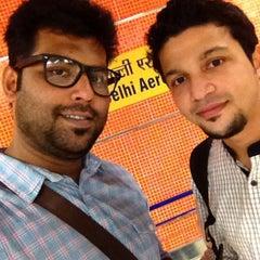 Photo taken at Delhi Aerocity Metro Station by Neeshad V. on 9/10/2014