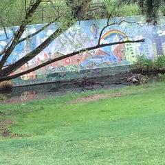 Photo taken at mid shooks run park by Braden W. on 5/9/2014