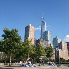 Photo taken at Pier 25 — Hudson River Park by Eduardo on 7/16/2013