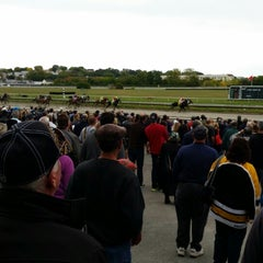 Photo taken at Suffolk Downs by Shawn F. on 10/4/2014