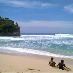 Photo taken at Pantai Indrayanti by adila h. on 3/1/2013