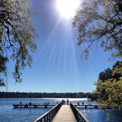 Photo taken at Green Lake Loop by Caitlin O. on 7/16/2013