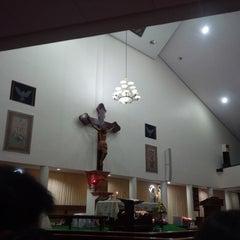 Photo taken at Gereja Hati Yesus yang Maha Kudus by AGUSTINUS R. on 2/15/2015