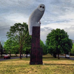 Photo taken at Owl Statue by Gary L. on 10/22/2013