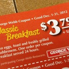 Photo taken at George Webb Restaurants by Mark S. on 11/10/2012