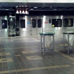 Photo taken at RTA Tower City - Public Square Rapid Station by Carmen Sandiego 👢👣👣💄🗽 on 11/8/2012