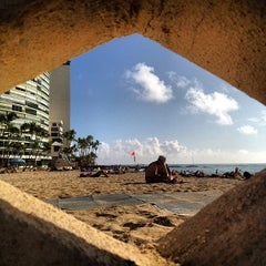 Photo taken at Kaimana Beach Park by Scott B. on 12/4/2012