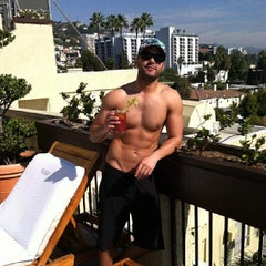 Photo taken at Le Montrose Rooftop Pool by Cliff H. on 11/10/2013