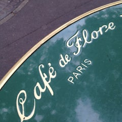 Photo taken at Café de Flore by nao_koj on 7/5/2012