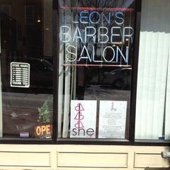 Photo taken at Leon's Barber Shop by Edmund Sizzahandz B. on 4/13/2012