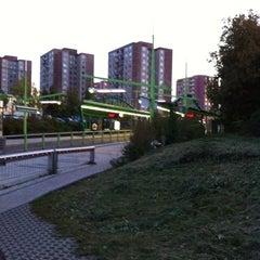Photo taken at Poliklinika Barrandov (tram, bus) by Tomáš H. on 10/13/2011
