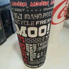 Photo taken at Mooyah Burger by Melissa S. on 7/12/2012
