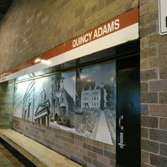 Photo taken at MBTA Quincy Adams Station by Emily A. on 7/31/2012