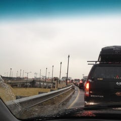 Photo taken at Frederick Douglass Memorial Bridge by J B. on 2/8/2012
