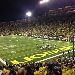 Photo taken at Autzen Stadium by Tom K. on 10/7/2012