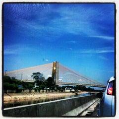 Photo taken at Ponte das Bandeiras by Claudio F. on 2/19/2013