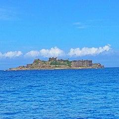 Photo taken at 端島 (軍艦島) Hashima (Gunkanjima) Island by NOT on 7/15/2013