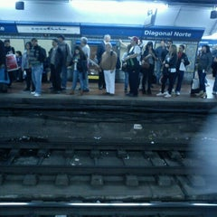 Photo taken at Estación Diagonal Norte [Línea C] by Anita on 9/28/2012