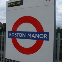 Photo taken at Boston Manor London Underground Station by Redha A. on 5/25/2013