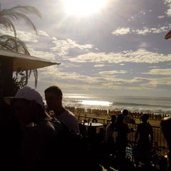Photo taken at Quiksilver Pro France (Plage des Culs Nus) by Wolle W. on 10/2/2013