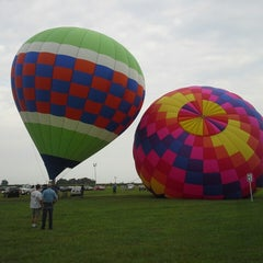 Photo taken at Lincoln Art & Balloon Festival - at Logan County Airport by Larry E. on 8/23/2013