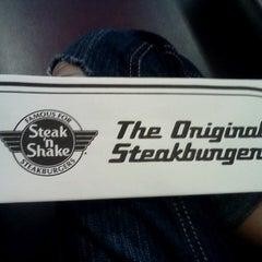 Photo taken at Steak 'n Shake by Taylor F. on 4/20/2013