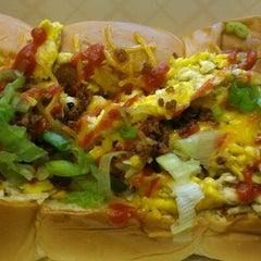 Photo taken at Dogzilla Hot Dogs Truck by Shellie R. on 6/19/2013
