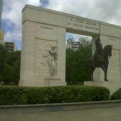 Photo taken at Parque Rivadavia by Marilina S. on 10/17/2012