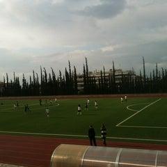Photo taken at Soccer Field & Running Track ACG-Deree by Thodoris T. on 10/24/2012