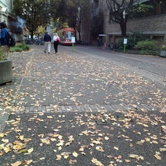 Photo taken at Portland Streetcar Jay Kenton Station (SW Park & Mill) by Noha Z. on 11/8/2012