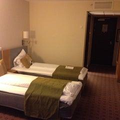 Photo taken at Scandic Helsfyr Hotel by Lee on 11/10/2014