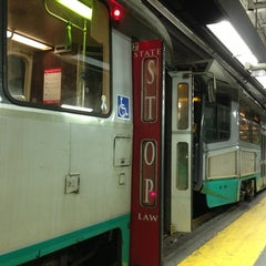 Photo taken at MBTA Government Center Station by Totsaporn I. on 7/15/2013