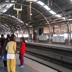 Photo taken at Qutab Minar Metro Station by hoya_t on 1/3/2014