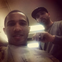 Photo taken at Boogies Barber Shop by Wil on 3/13/2013