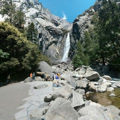 Photo taken at Lower Yosemite Falls by Silvia E. on 5/26/2015
