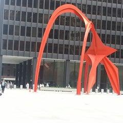 Photo taken at Alexander Calder's Flamingo Sculpture by Jay M. on 6/26/2013